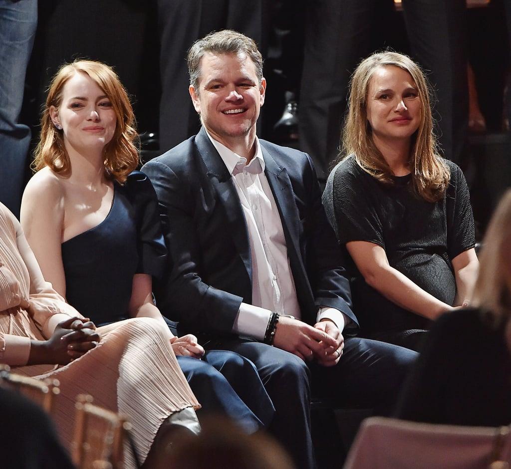 Emma Stone, Matt Damon, and Natalie Portman