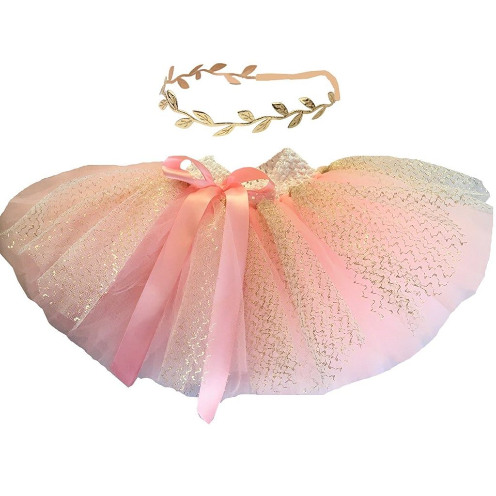 For 2-Year-Olds: Hello Baby Pink Tutu Skirt and Headband