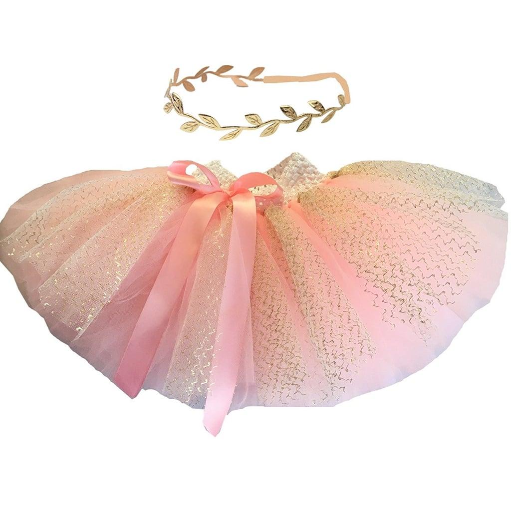 Hello Baby Pink Tutu Skirt and Headband
