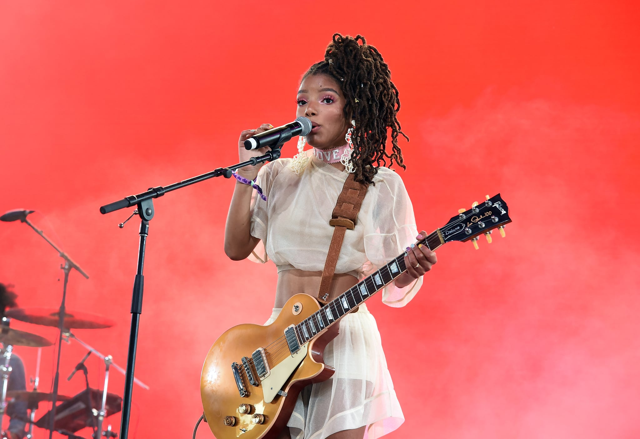 INDIO, CA - APRIL 21:  Halle Bailey of Chloe x Halle performs onstage during the 2018 Coachella Valley Music And Arts Festival at the Empire Polo Field on April 21, 2018 in Indio, California.  (Photo by Kevin Winter/Getty Images for Coachella)