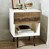 Reclaimed Wood and Lacquer Nightstand