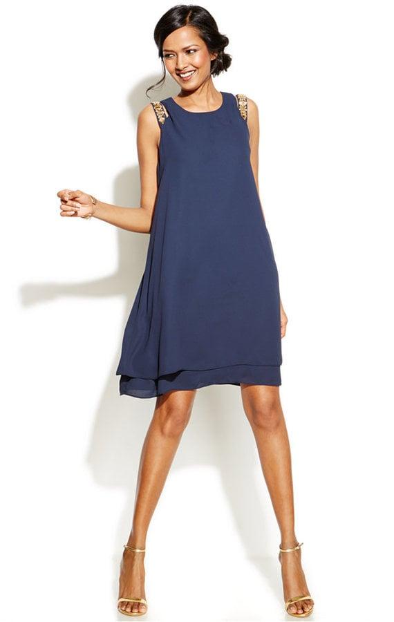 Alfani Prima Jeweled Cutout Shoulder Shift Dress 100