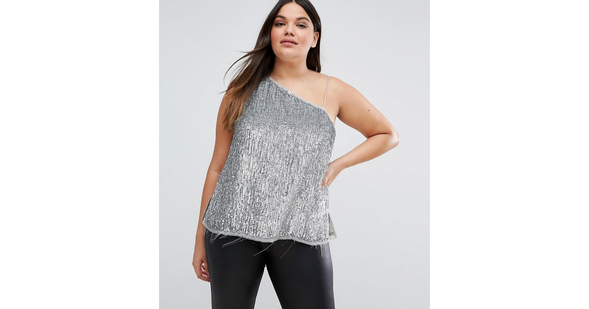c221a05a74970d Emily Ratajkowski s Backless Silver Sequin Top May 2018
