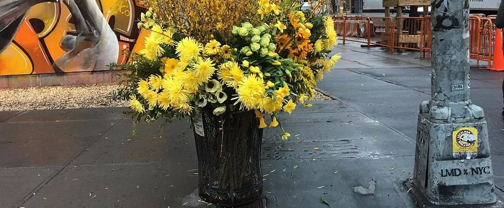 Trash Can Bouquets by Lewis Miller Design