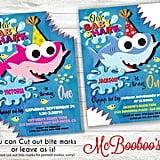 Baby Shark Birthday Invite With Bite Marks