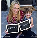 Brooks Stuber helped his mom, Molly Sims, announce her pregnancy.