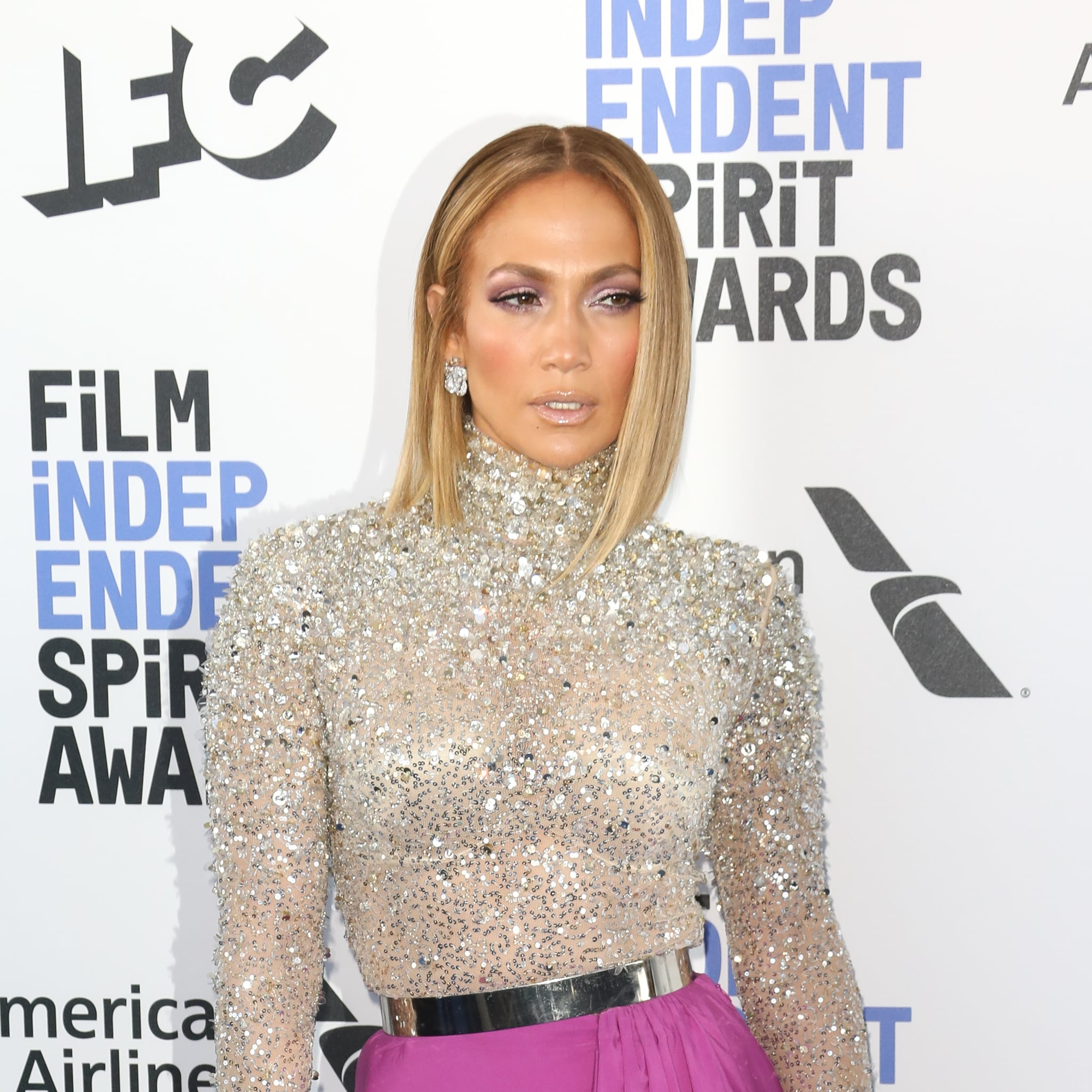 Jennifer Lopez S Blond Lob Haircut Popsugar Beauty