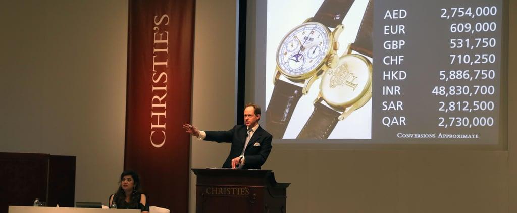 ساعة الملك فاروق تباع بمبلغ 3 مليون درهم في مزاد كريستي