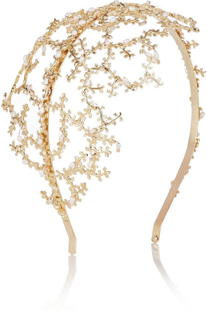 Rosantica Fata Gold-Tone Pearl Headband ($650)