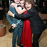 Finn Wolfhard, Millie Bobby Brown, and Gaten Matarazzo