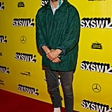 I'm seeing a pattern when it comes to Shia and sneakers, but I don't really mind one bit.