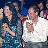 Kate Middleton in Anna Sui at the Bihu Festival Celebration