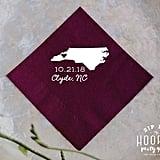 North Carolina Wedding State Napkins