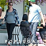 Leighton Meester Shows Off Her Baby Bump!