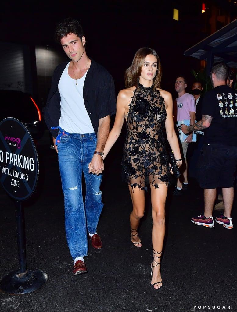 Jacob Elordi and Kaia Gerber at the 2021 Met Gala After Party