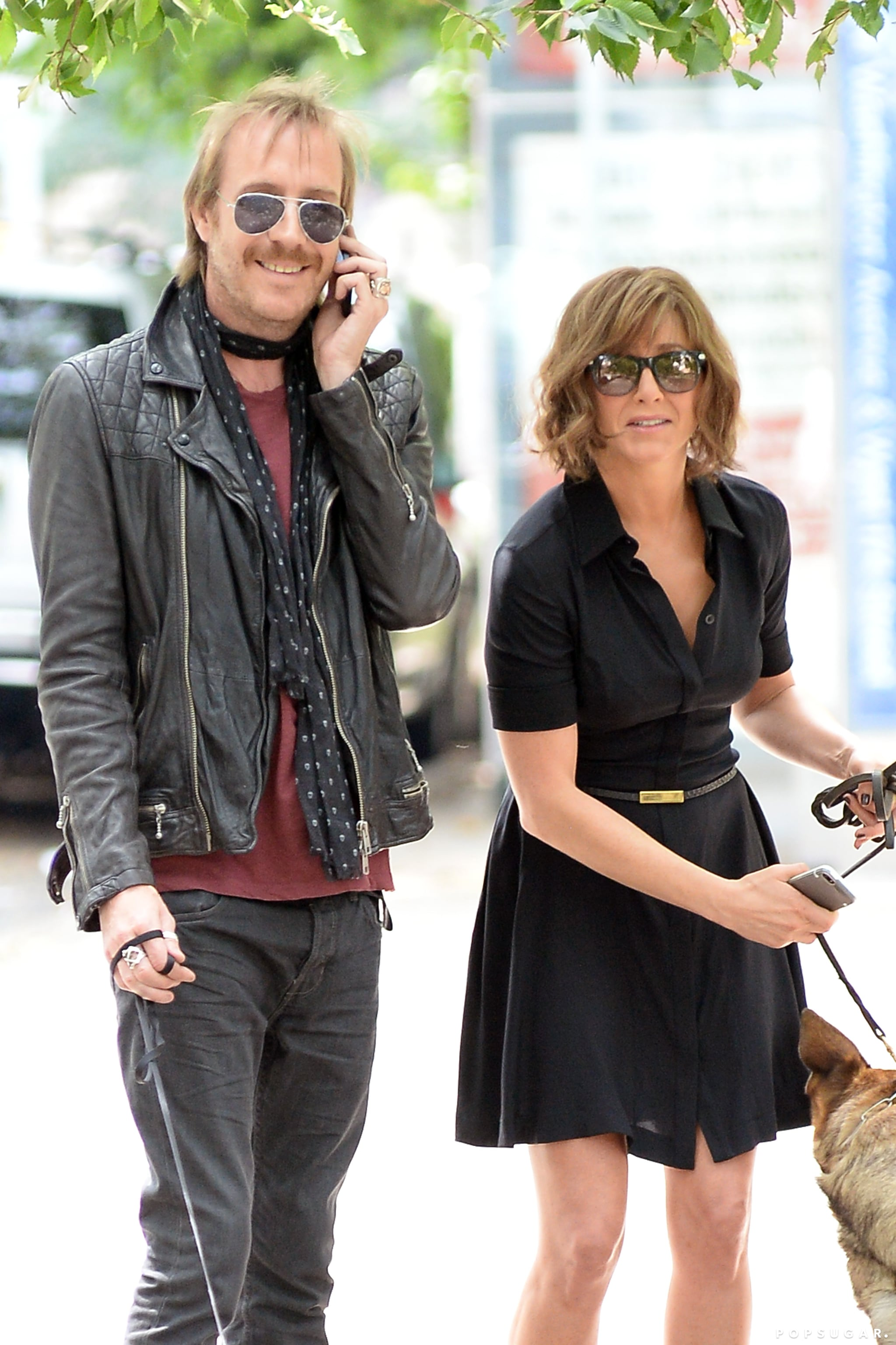 Jennifer Aniston filmed again in NYC on July 31 while wearing a black dress.