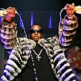 Diddy double-fisted his Champagne bottles during a performance in NYC in October 2005.