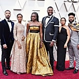 Pictured: Celebrities, Oscars, Danai Gurira, Michael B. Jordan, Letitia Wright, and Winston Duke
