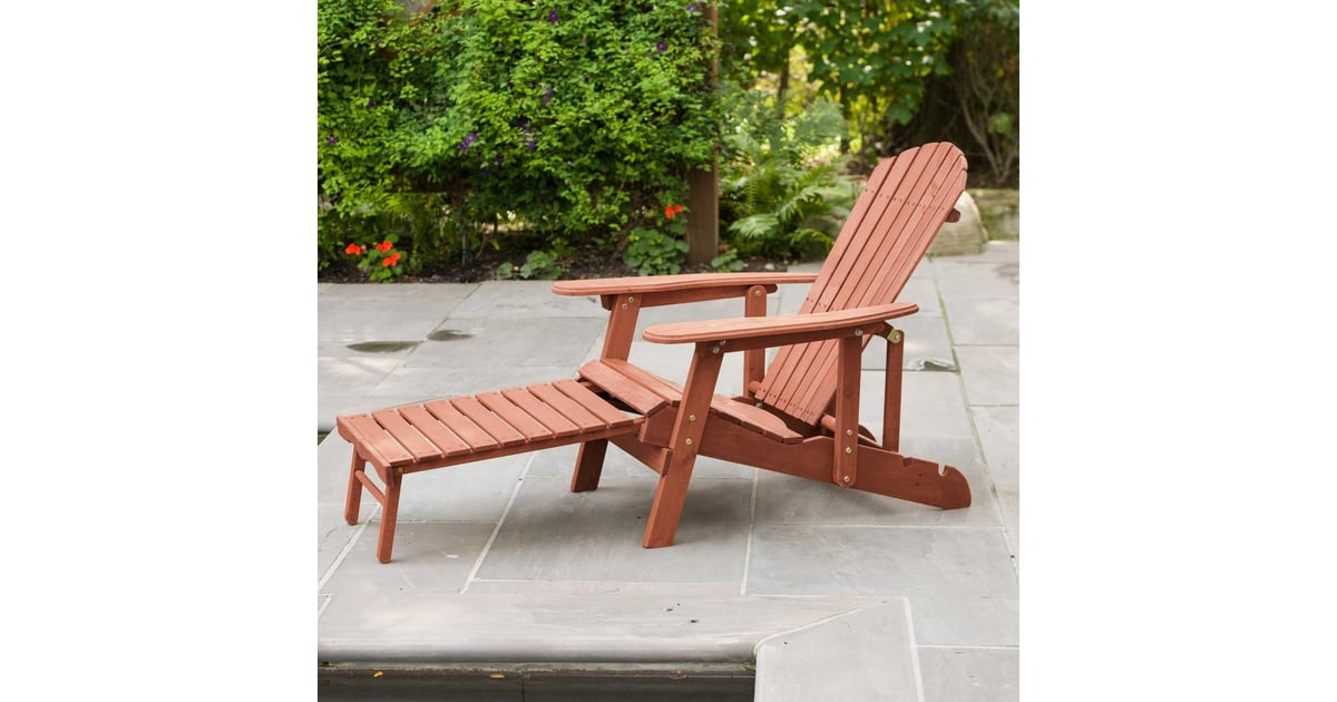 Picture of: Leisure Season Reclining Patio Adirondack Chair With Pull Out Ottoman I Spent Hours Searching For The Best Adirondack Chairs And Home Depot Is The Clear Winner Popsugar Home Photo 5