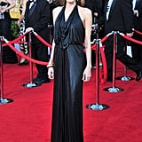 Angelina Jolie also wore Jenny Packham to the Screen Actors Guild Awards in Los Angeles in January.