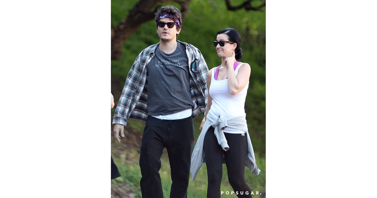 katy perry and john mayer wore workout gear katy perry and john mayer hiking with allison. Black Bedroom Furniture Sets. Home Design Ideas