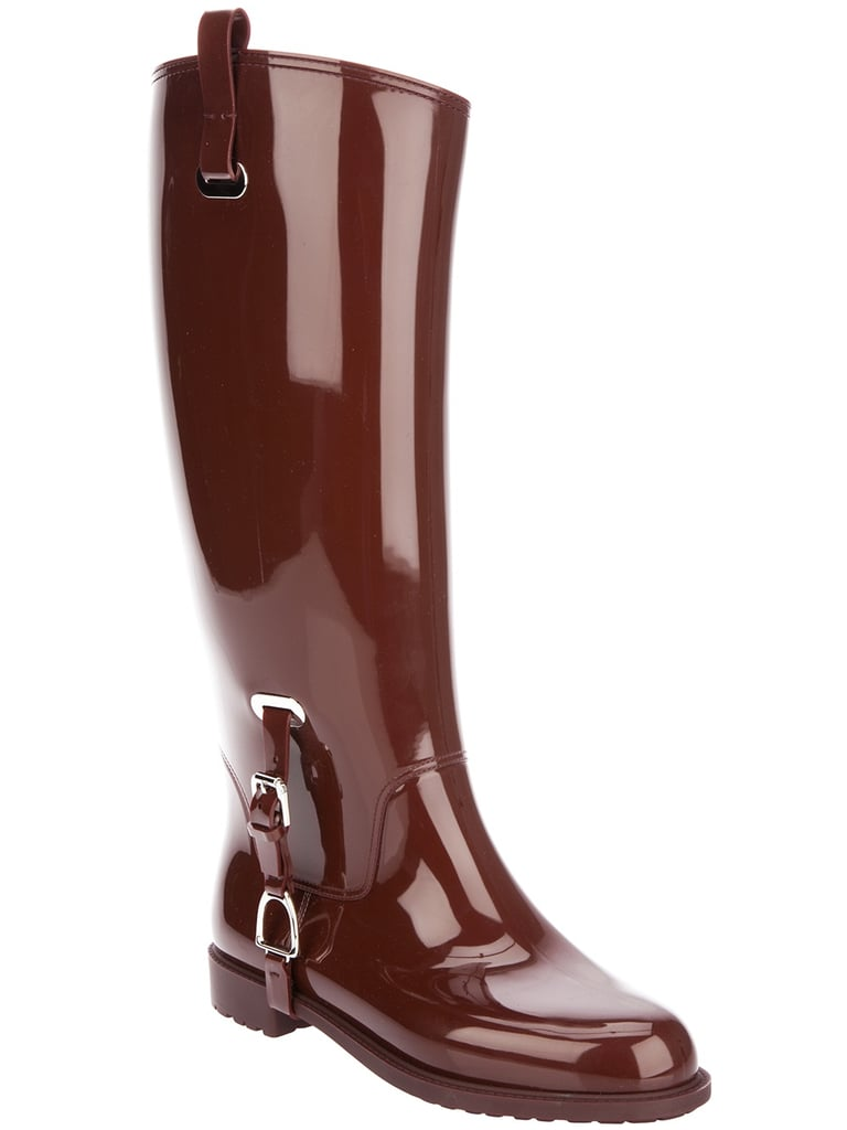 We can't get over the polished bordeaux hue of this Ralph Lauren Odette Rubber Rain Boot ($395). If you styled this boot with a tailored trench coat and printed scarf, you would be, in effect, rainy day perfection.