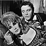 On the set of Dr. Faustus with Richard Burton in 1967