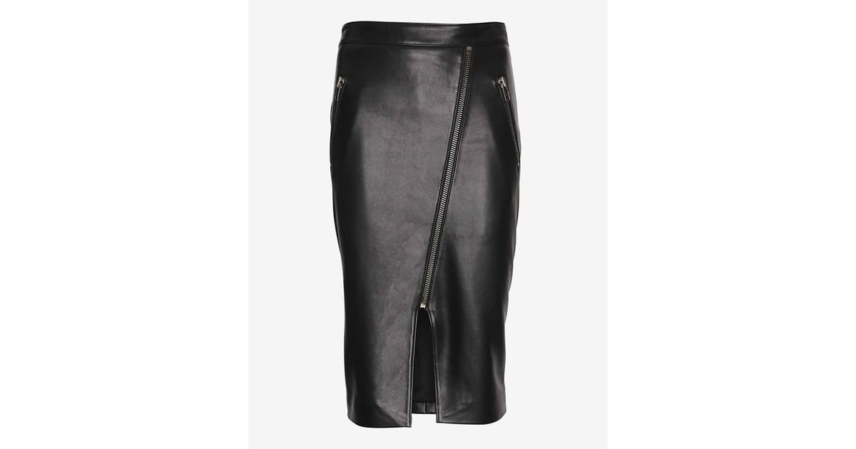 8e4e36c3ad Mason by Michelle Mason Slit Leather Skirt | Slit Skirts For Fall |  POPSUGAR Fashion Photo 4