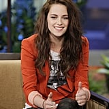 Kristen Stewart laughed on The Tonight Show Friday night.