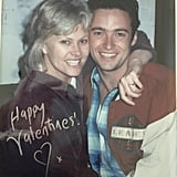 Hugh Jackman wished his followers a happy Valentine's Day with a throwback picture of the actor and his wife, Deborra-Lee Furness.
