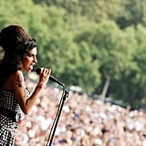 "Amy Winehouse performed hits like ""Rehab,"" ""Back to Black,"" and ""You Know I'm No Good"" during her 2007 set."