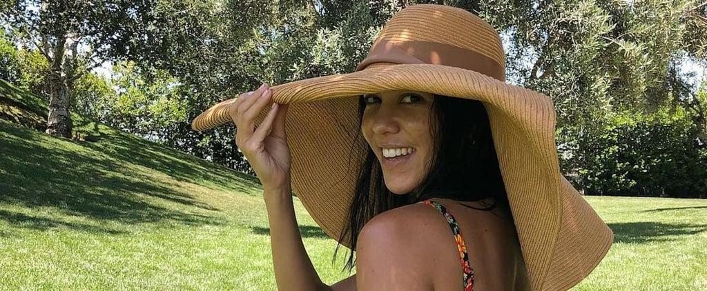 Kourtney Kardashian Floral Thong Bikini July 2018