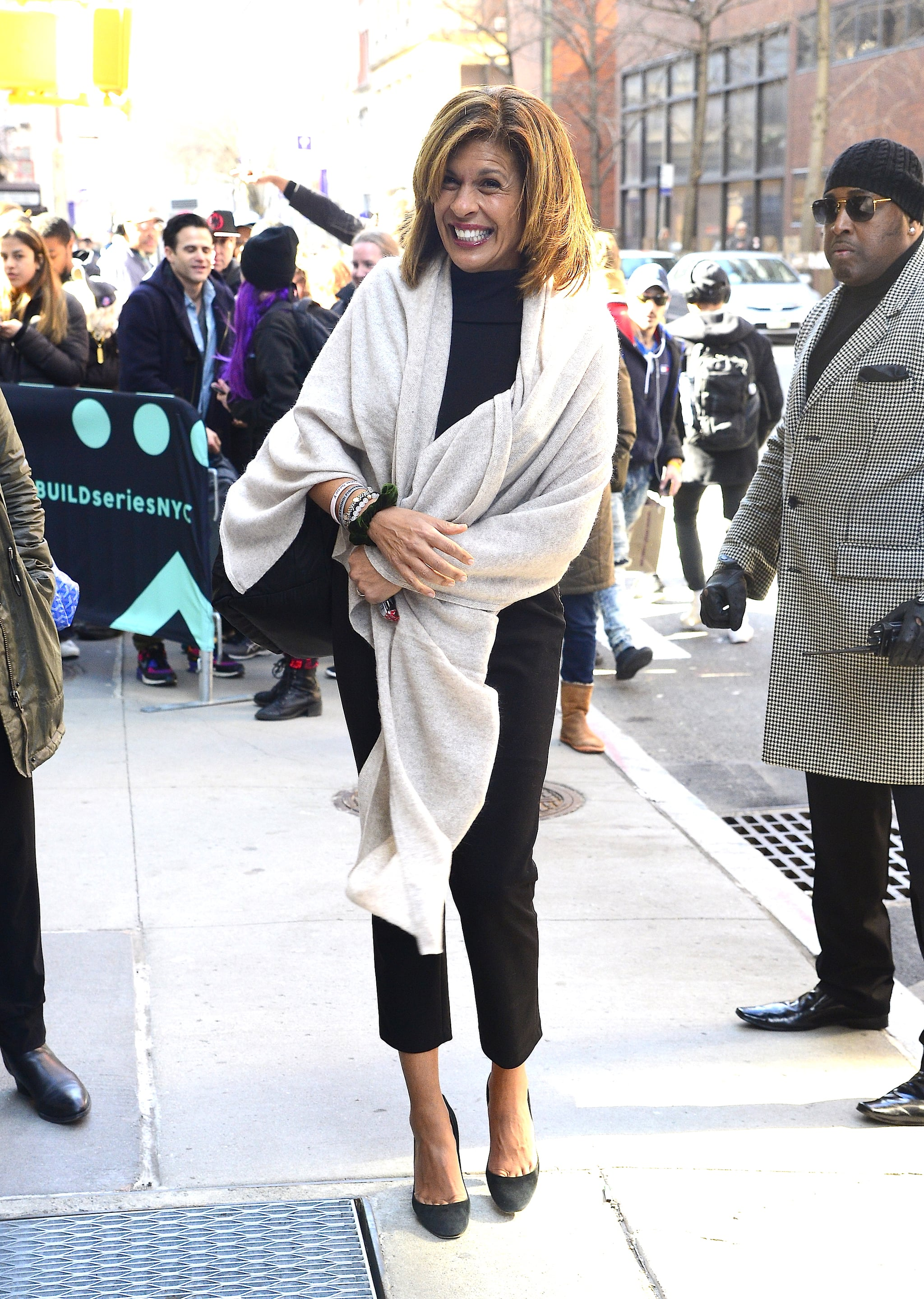 NEW YORK, NY - MARCH 12:  Hoda Kotb is seen outside Build Studio on March 12, 2019 in New York City.  (Photo by Raymond Hall/GC Images)