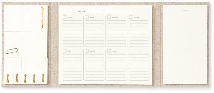 Kate Spade Desktop Weekly Calendar and Folio - Polka Dot ($32)