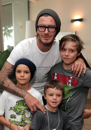 David Beckham and his sons attend Kinect for Xbox 360 Launch Party held at a private residence on October 23, 2010