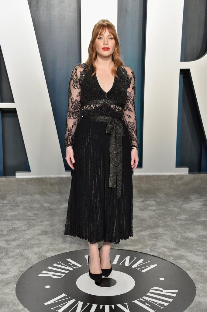 Bryce Dallas Howard at the Vanity Fair Oscars Afterparty 2020