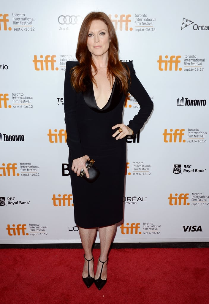 Julianne Moore is the master of classic styling and here's a great example: her menswear-inspired Alexander McQueen dress doesn't hit a single stray note, but to keep it playful, she added Christian Louboutin T-strap sandals into the mix.