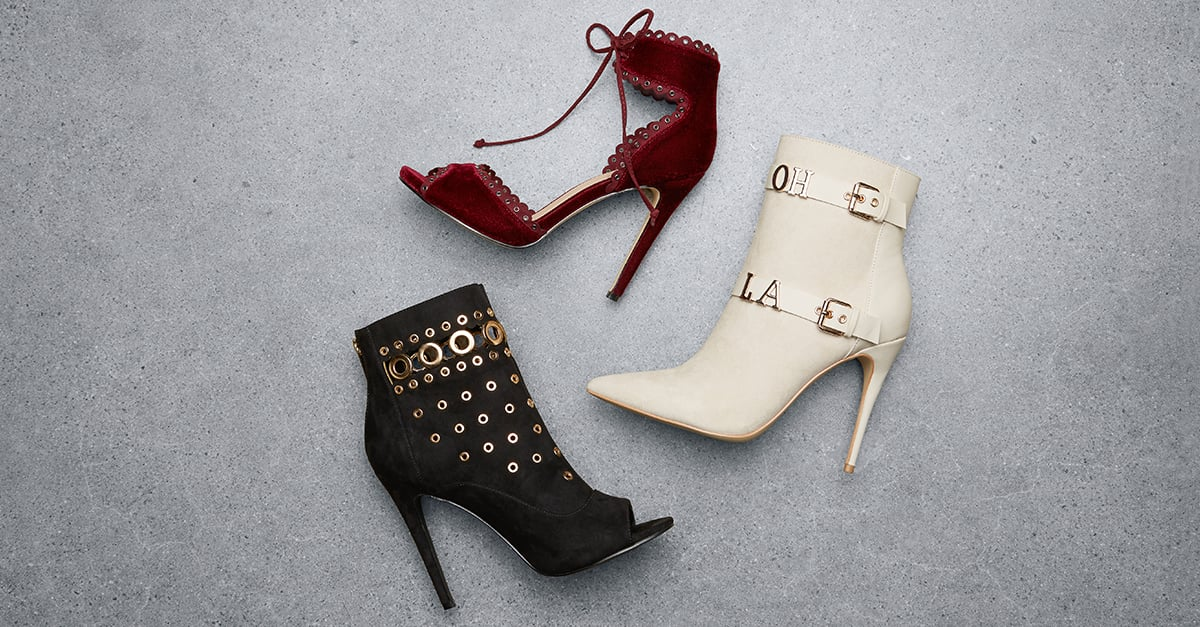 c74e55f1a0 ShoeDazzle even has all of the latest trends. Heel details have started  popping up everywhere from blogger street style looks to runways