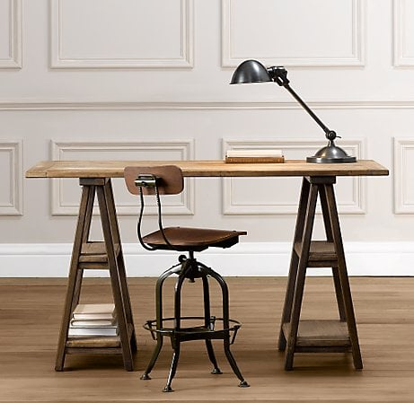sawhorse trestle desk ($600)