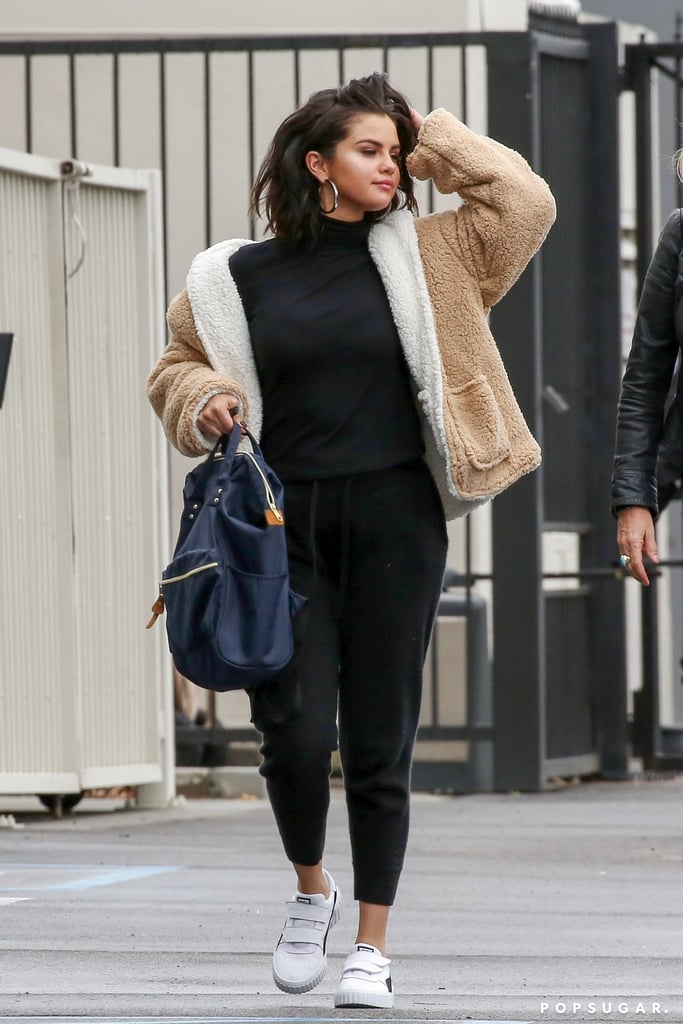 Selena Gomez Wears Fuzzy Jacket 2019 | POPSUGAR Fashion Photo 2