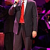 James Taylor gave a performance at the Revlon Concert for the Rainforest Fund at Carnegie Hall in NYC.