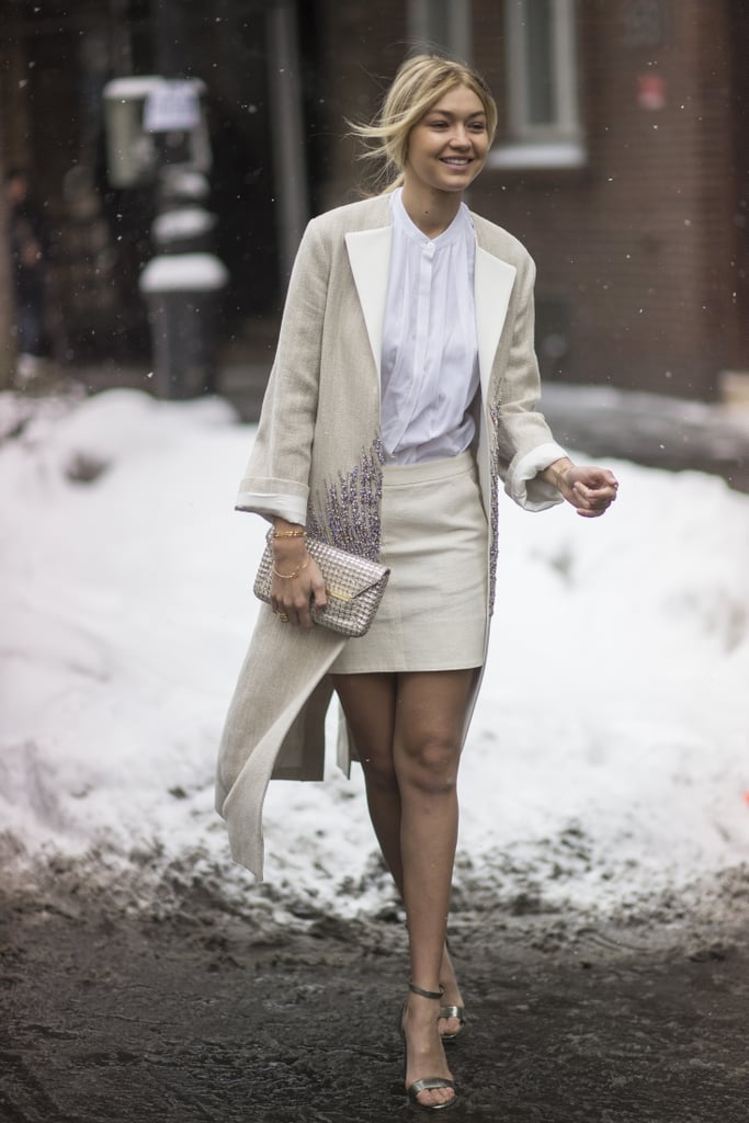 Fashion Week in NYC called for a sophisticated coat and skirt, fit for the front row.