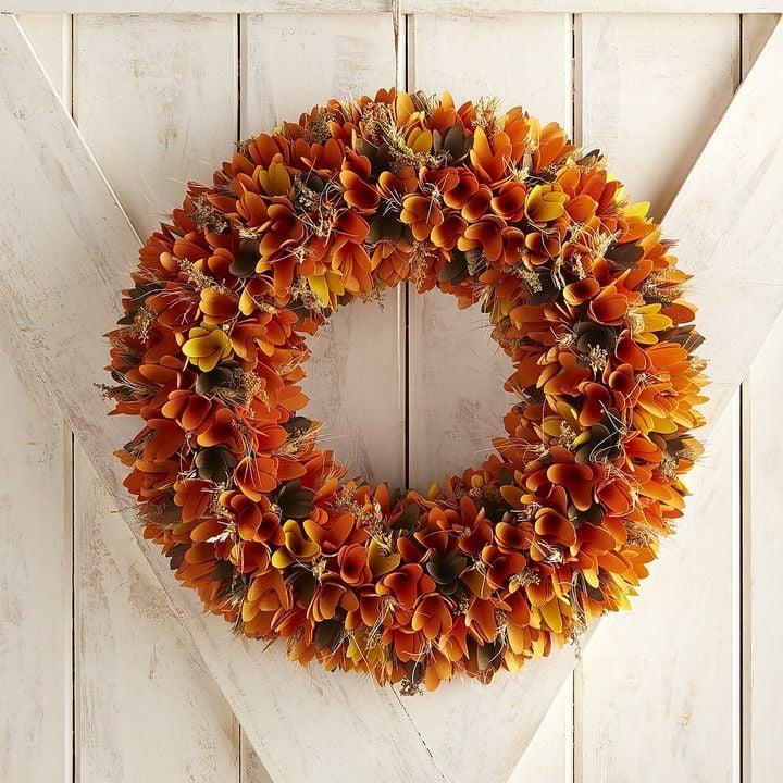 Pier Imports Harvest Wood Curl Wreath Best Fall Wreaths Popsugar Home