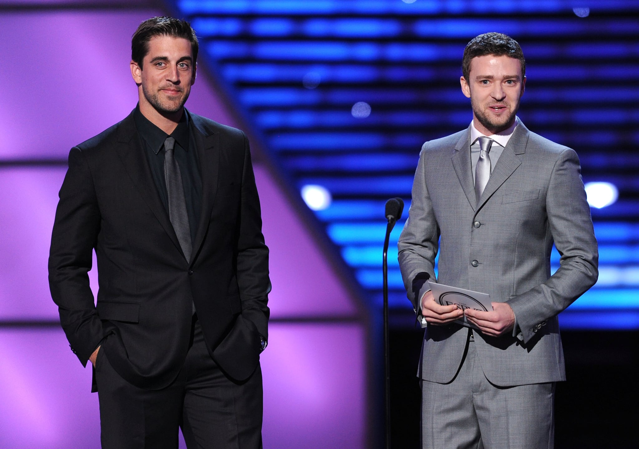 Aaron Rodgers and Justin Timberlake