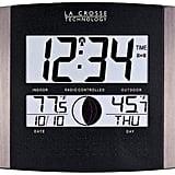 Atomic Wall Clock With Indoor/Outdoor Temperature