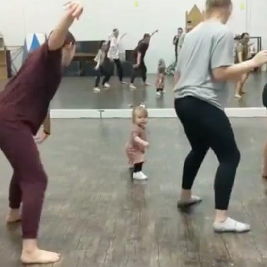 Toddler Leads an Adult Dance Class | Video
