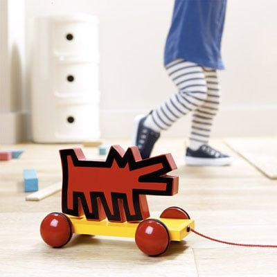 Keith Haring Wolf Pull Toy