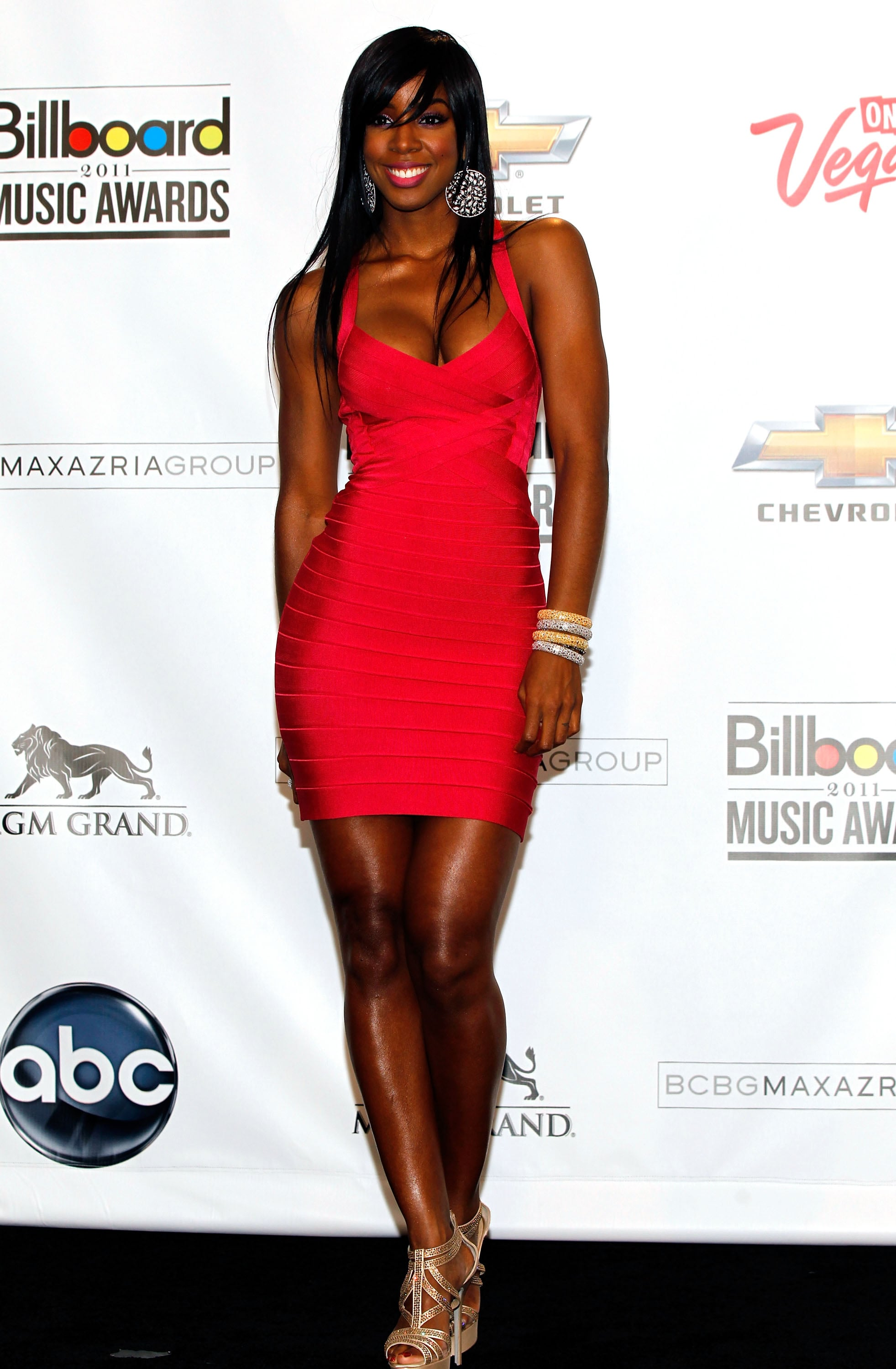 Kelly Rowland in Hervé Léger