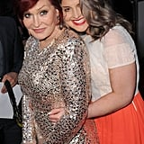 It's double the trouble with mother-daughter duo Sharon and Kelly Osbourne at the People's Choice Awards.