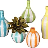 Ceramic Vases Set of 5 ($114)